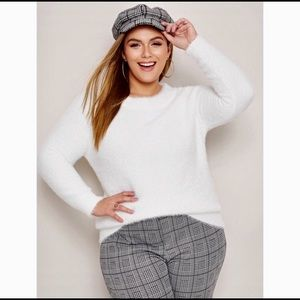 Sweaters - New Arrival..Plus Size Fuzzy Long Sleeve Sweater.